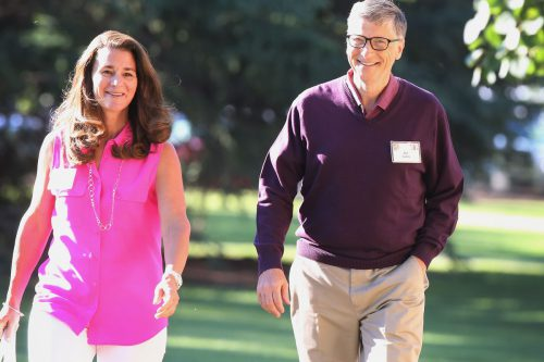 Happy Entrepreneur Couple Bill Gates And Melinda Gates