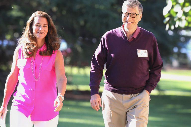 Happy Entrepreneur Couple Bill Gates And Melinda Gates