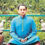 Siddharth Mangharam Practicing Vipassana Meditation In His Balcony